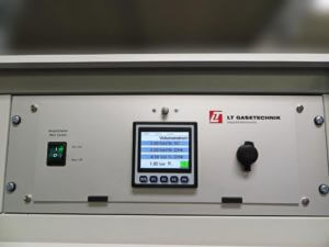 LT GasAnalysator am Gasmischer für die Qualitätssteigerung im Härteofen