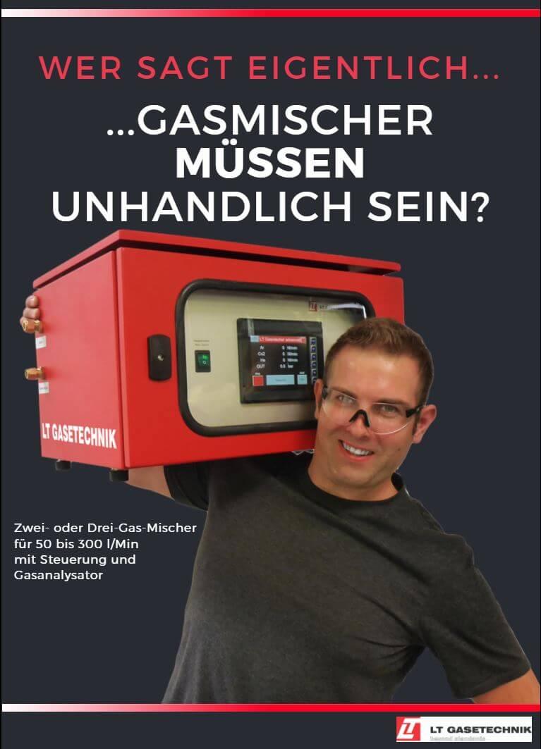Handlicher Gasmischer für 50 - 300l/min