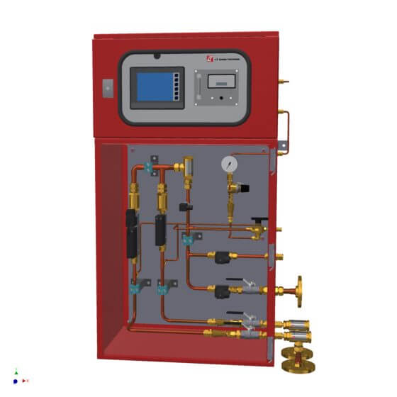 Compact plant for the production of lean air from nitrogen and compressed air (N2/air) with output power: 1 50 - 5000 NL/h; control range for oxygen concentration: 0.2 to 5.8 vol.%. PLC with touch screen; SIL-1 compliant gas analysis incl. automatic correspondingly connected SIL switch-off - naturally including associated SIL calculations