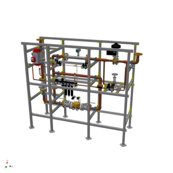 Gas control system for 600 standard cubic meters per hour oxygen to supply burner