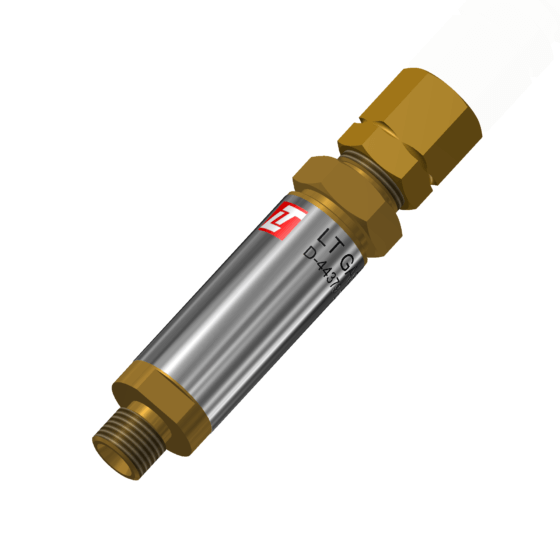 Flashback arrestors (safety device acc.  DIN EN ISO 5175-1 / EN 730-1 with non return valve, flame arrester and thermal cut-off valve) for flammable gases for installation at single cylinders, torches as well as on cutting machines, cylinder regulators, distribution points and gas distributors