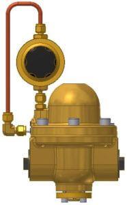 technische Zeichnung eines Pilotdruckreglers