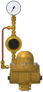 Pilotdruckregler, Vordruckmanometer