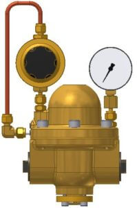 Type 3 with Type 4 with pilot pressure controller, outlet pressure gauge