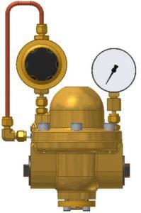 Pilotdruckregler, Hinterdruckmanometer