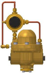 Pilotdruckregler, Hinterdruckrückführung
