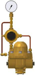 Pilotdruckregler, Hinterdruckrückführung, Vordruckmanometer