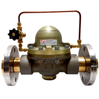"2"" dome pressure regulator with pilot pressure regulator unit and flange connections"