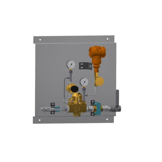 Pressure control panel from LT GASETECHNIK