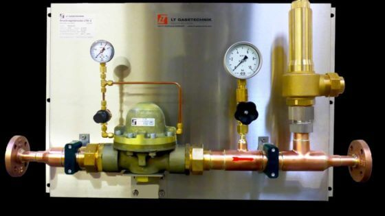 "2"" LTD-2 pressure control panel with safety valve from LT GASETECHNIK"