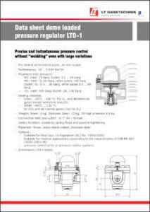 Datenblatt von einem Domdruckregler