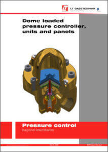 Brochure about dome loaded pressure controllers, pressure regulating units and pressure regulating lines