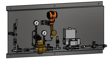 Generator cooling - main pressure control station
