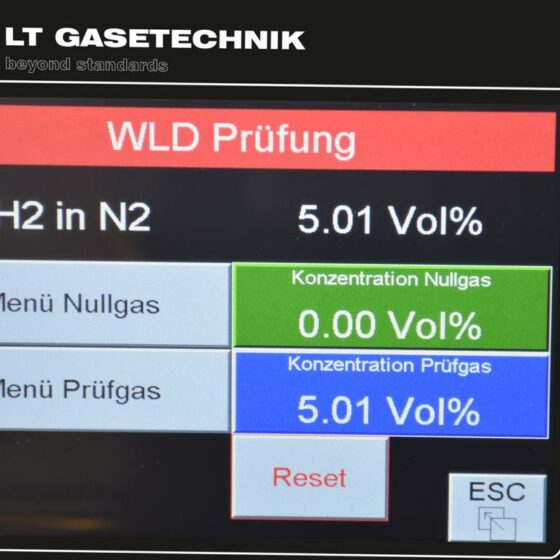 Touch-Screen-Ansicht mit WLD-Prüfung