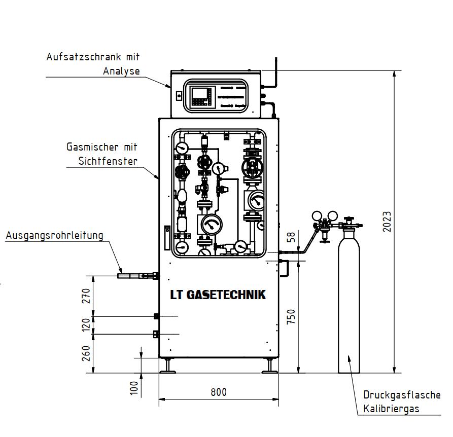420 Nm3h gas mixer